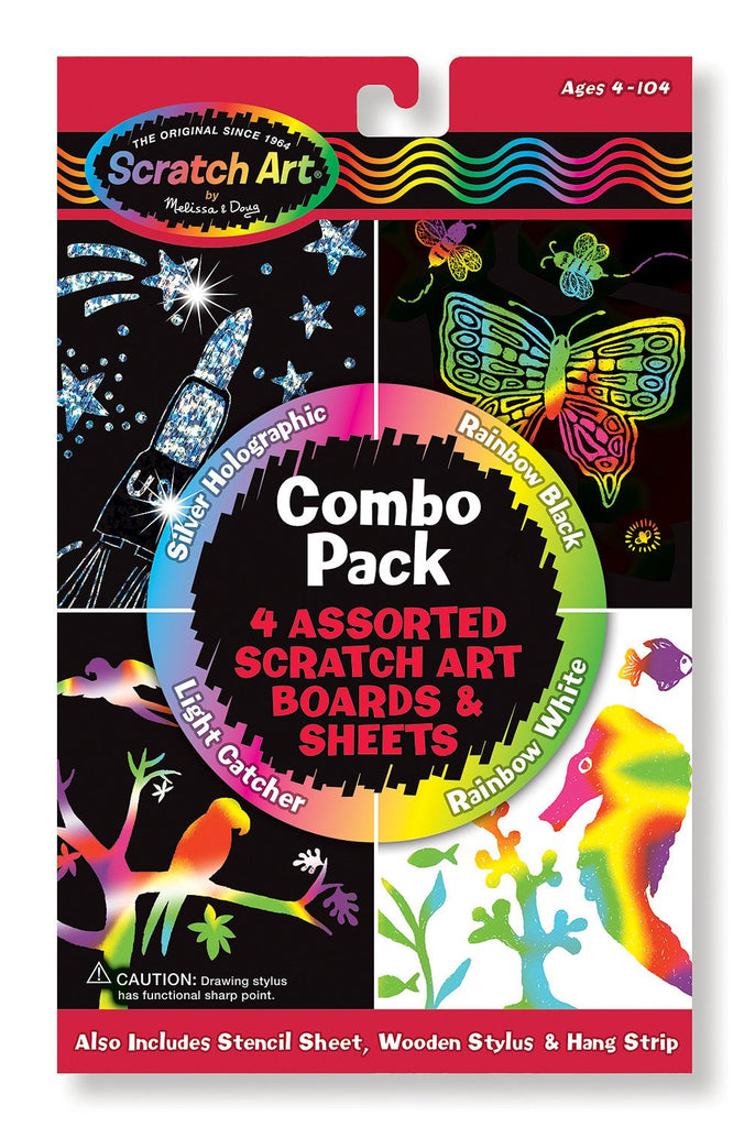 Melissa Doug Scratch Art Combo Pack 5804