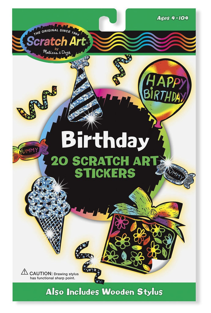 Melissa Doug Birthday Scratch Art Stickers 5828