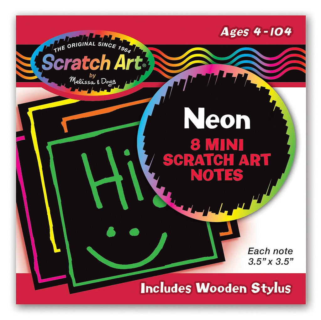 Melissa Doug Neon Mini Scratch Notes 5841