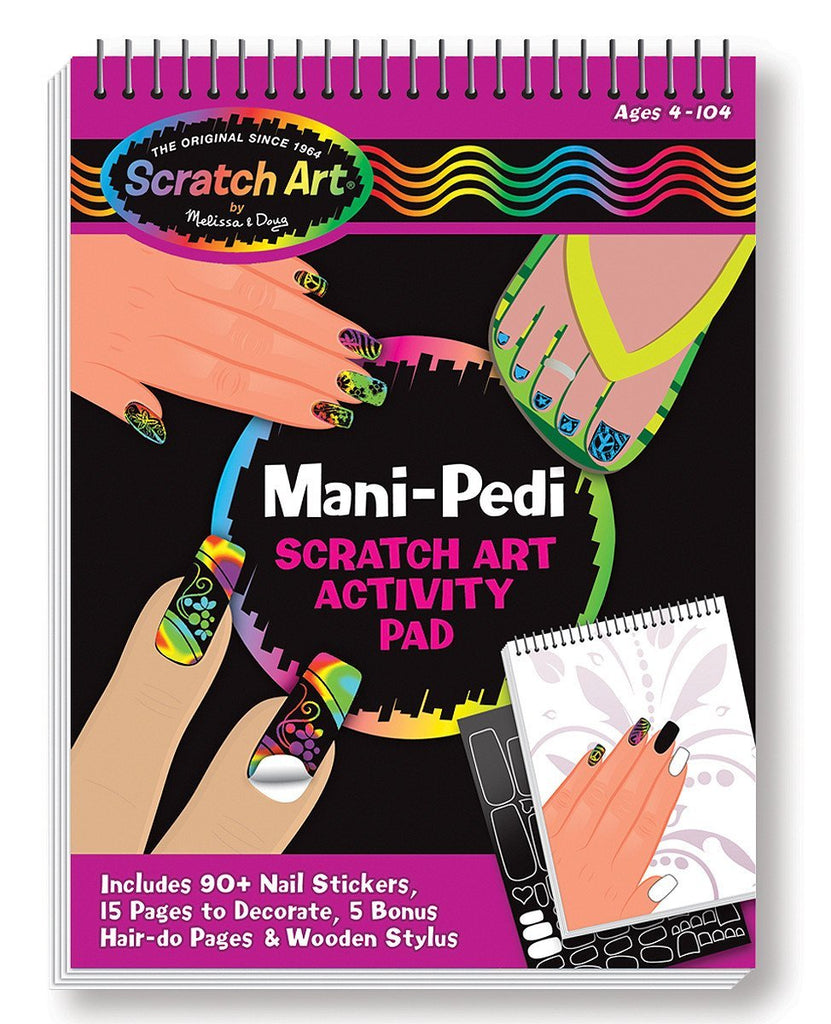 Melissa Doug Mani-Pedi Scratch Art Activity Pad