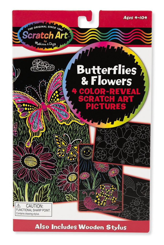 Melissa Doug Color-Reveal Pictures - Butterflies & Flowers