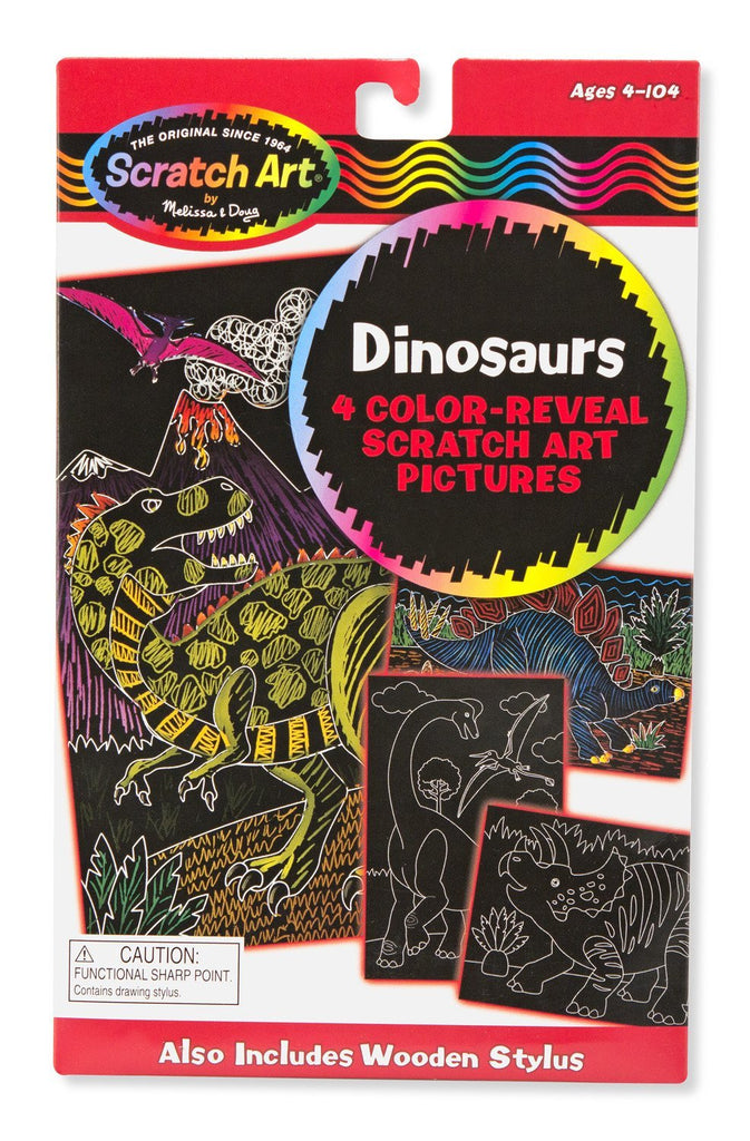 Melissa Doug Color-Reveal Pictures - Dinosaurs