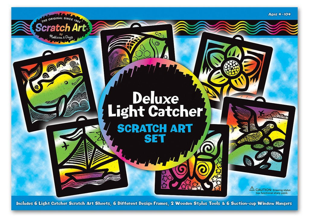 Melissa Doug Deluxe Light Catcher Scratch Art Set