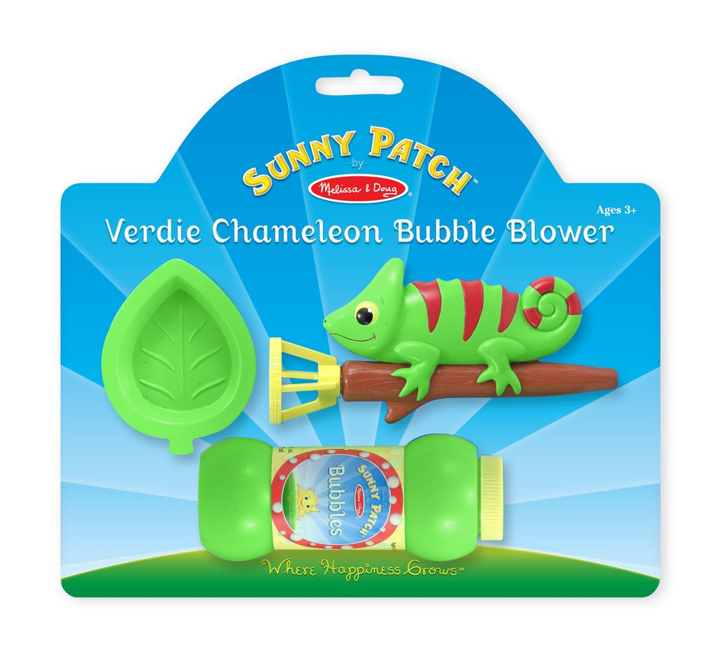Melissa Doug Verdie Chameleon Bubble Blower