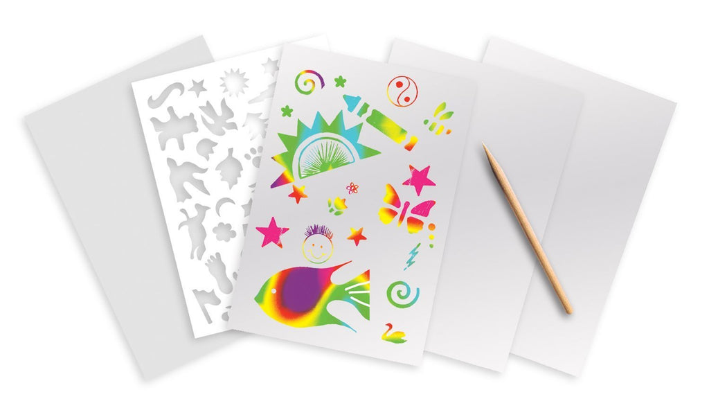 Melissa Doug Rainbow Scratch Art White Paper