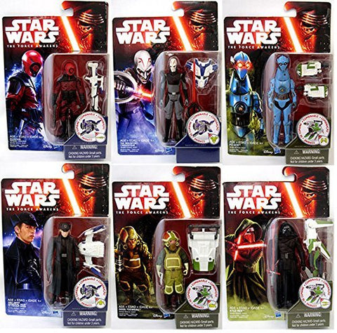 "Image of Star Wars Episode VII The Force Awakens 3.75"" Jungle and Space Action Figure Wave 2 - Set of 6"