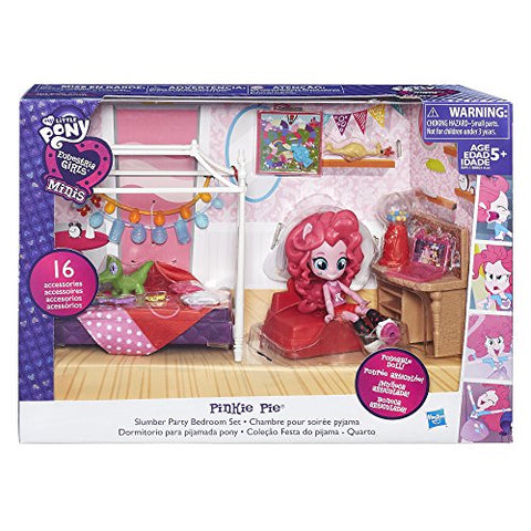 Image of My Little Pony Equestria Girls Minis Pinkie Pie Slumber Party Bedroom Set