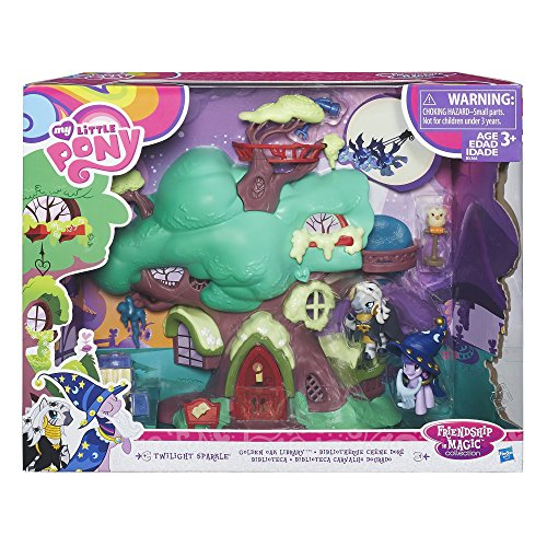 My Little Pony Friendship Is Magic Collection Spooky Golden Oak Library Playset  Play with Twilight Sparkle and Zecora In This Super Fun, Magical Toy - Perfect for Kids Ages 3+ - 11 Piece Collection