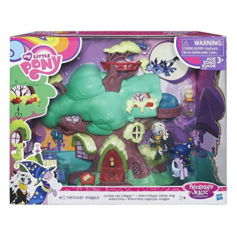Image of My Little Pony Friendship Is Magic Collection Spooky Golden Oak Library Playset  Play with Twilight Sparkle and Zecora In This Super Fun, Magical Toy - Perfect for Kids Ages 3+ - 11 Piece Collection