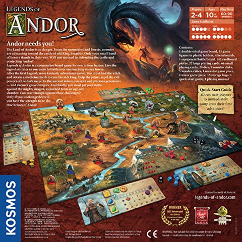 Image of Legends of Andor Board Game | Cooperative Strategy Adventure Game By KOSMOS | Spiel Des Jahres Kennerspiel Winner