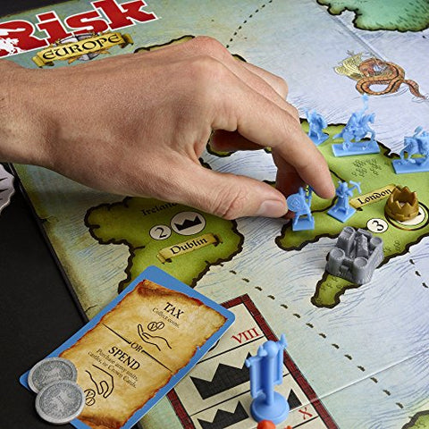 Image of Risk Europe Strategy Board Game by Hasbro - Perfect Game for the Entire Family - Multiplayer Conquest of 7 Unique Kingdoms - Accept Secret Missions, Fight Battles, Take Over Medieval Europe