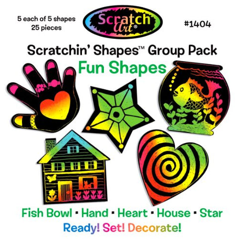 Image of Melissa and Doug Scratchin' Shapes - Fun Shapes Group Pack