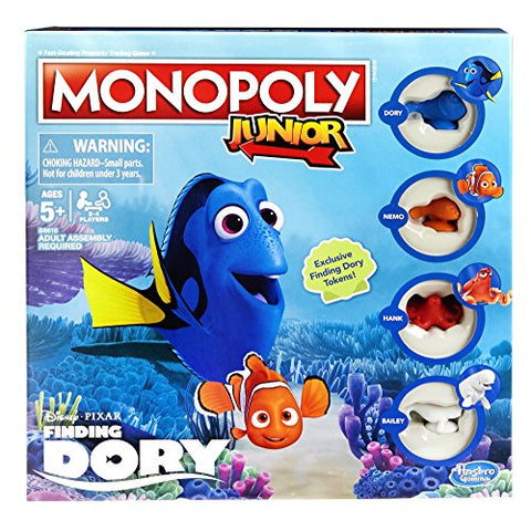 Image of Monopoly Junior: Disney/Pixar Finding Dory Edition