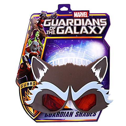 Image of Costume Sunglasses Guardians of the Galaxy Rocket Raccoon Sun-Staches Party Favors UV400