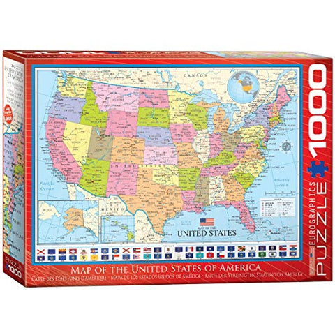 EuroGraphics Map of The United States Puzzle (1000 Piece)