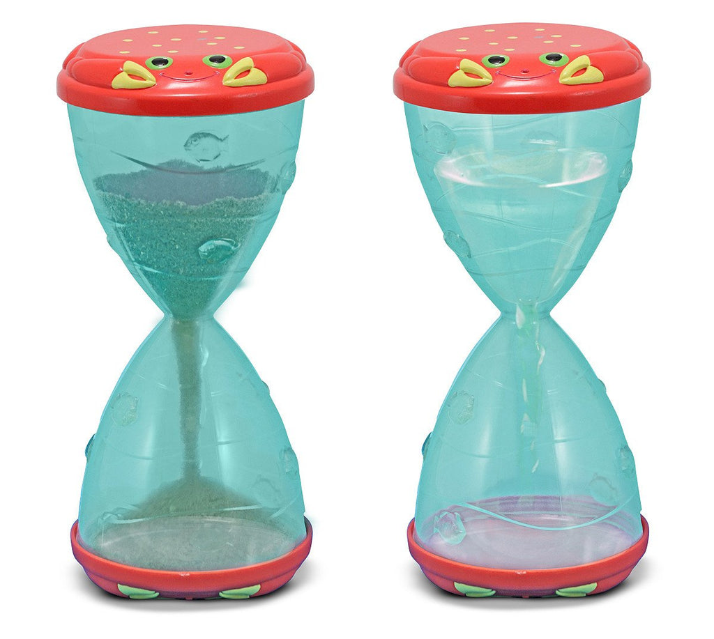 Melissa Doug Clicker Crab Hourglass Sifter & Funnel 6409