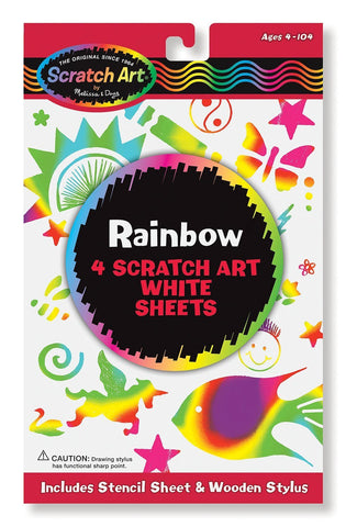 Image of Melissa Doug Rainbow Scratch Art White Paper