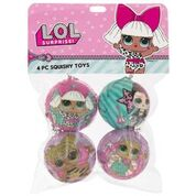 Lol 4 PC Squishy toys