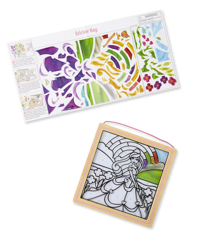Image of Melissa Doug Peel & Press Stained Glass - Princess