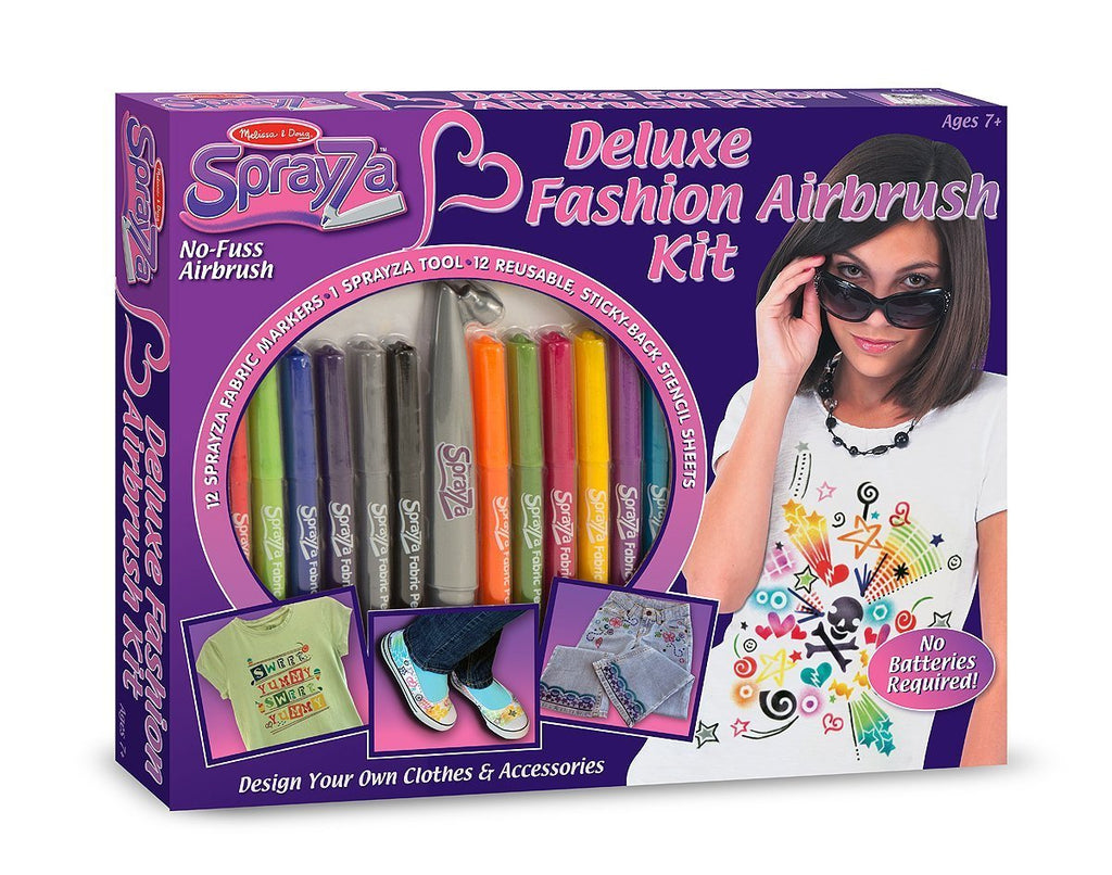Melissa Doug Sprayza Deluxe Fashion Airbrush