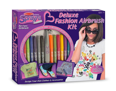 Image of Melissa Doug Sprayza Deluxe Fashion Airbrush