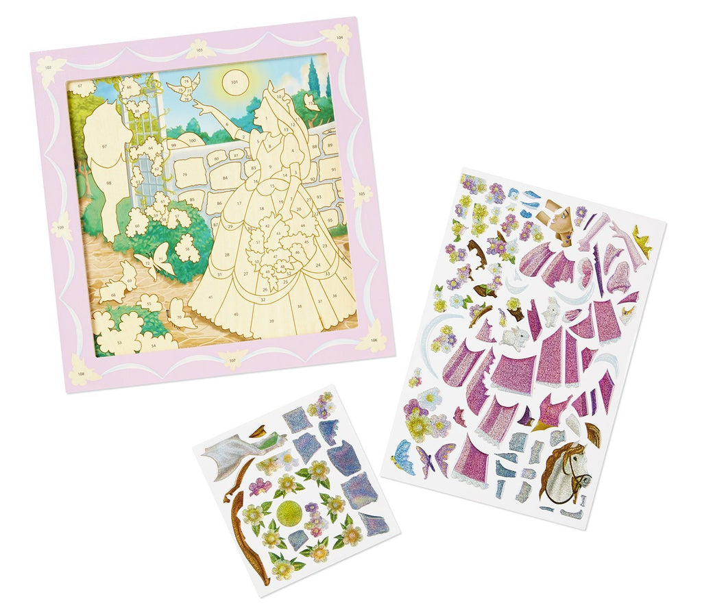 Melissa Doug Peel & Press Sticker by Number - Princess