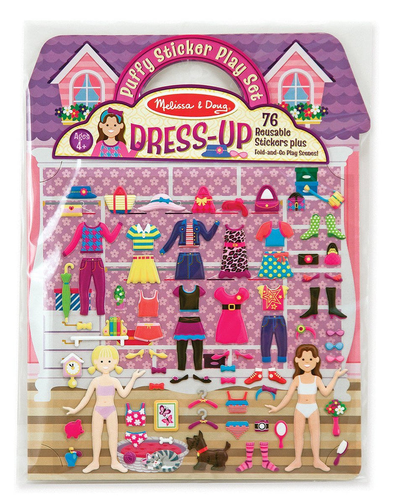Melissa Doug Puffy Sticker Play Set - Dress-Up 2195