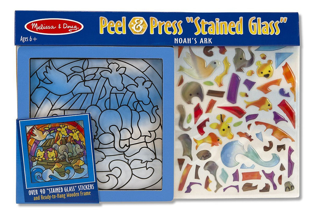 Melissa Doug Peel & Press Stained Glass - Noah's Ark