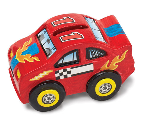 Image of Melissa Doug Race Car Bank - DYO 8863