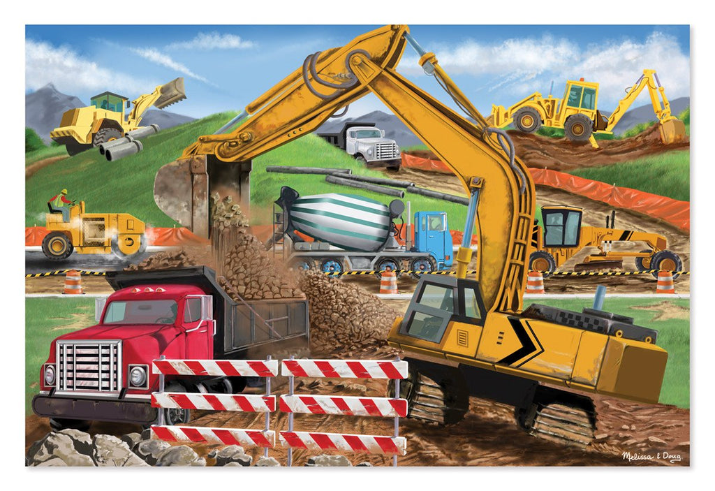 Melissa Doug Building Site 48pc Floor Puzzle 8900