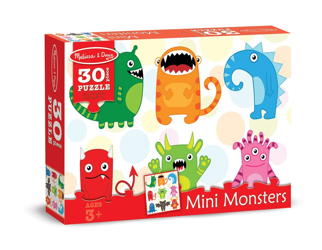 Melissa Doug 0030 pc Mini Monsters Cardboard 8921