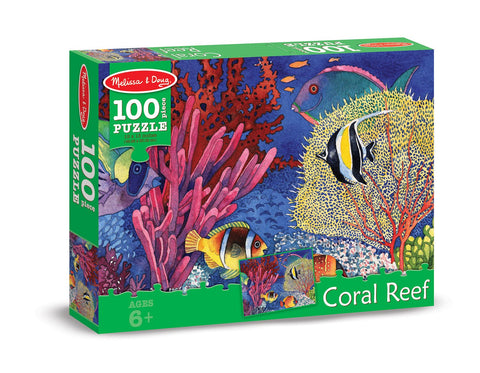 Image of Melissa Doug 0100 pc Coral Reef Cardboard Jigsaw 8942