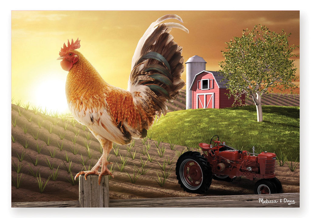 Melissa Doug 0100 pc Sunrise Farm Cardboard Jigsaw 8943