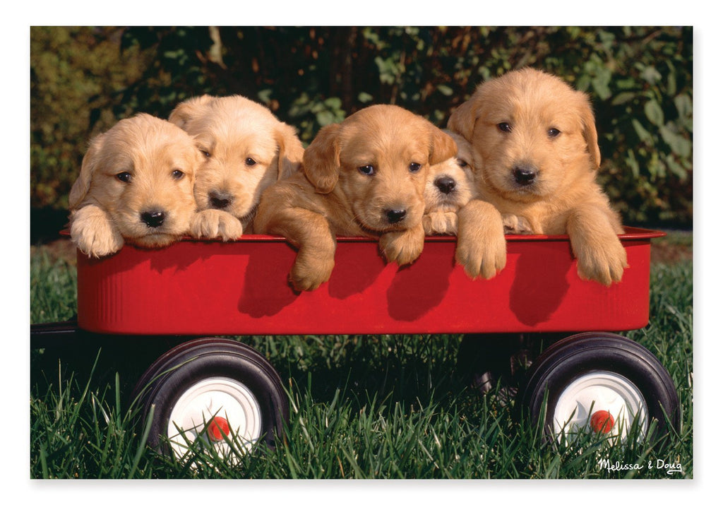 Melissa Doug 0100 pc Puppy Wagon Cardboard Jigsaw 8945