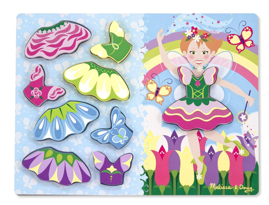 Melissa Doug Fairy Dress-Up Chunky Puzzle