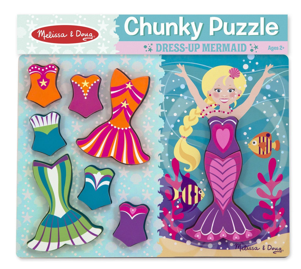Melissa Doug Mermaid Dress-Up Chunky Puzzle