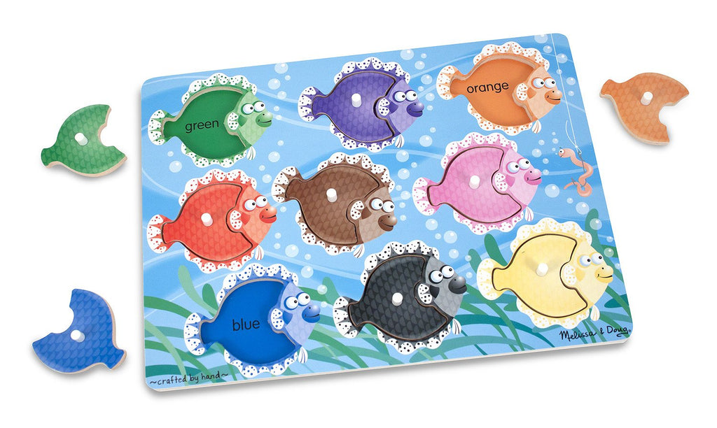Melissa Doug Colorful Fish Peg Puzzle