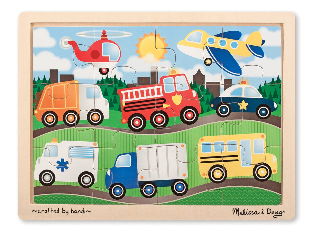 Melissa Doug Vehicles Jigsaw (12pc) puzzle 9068