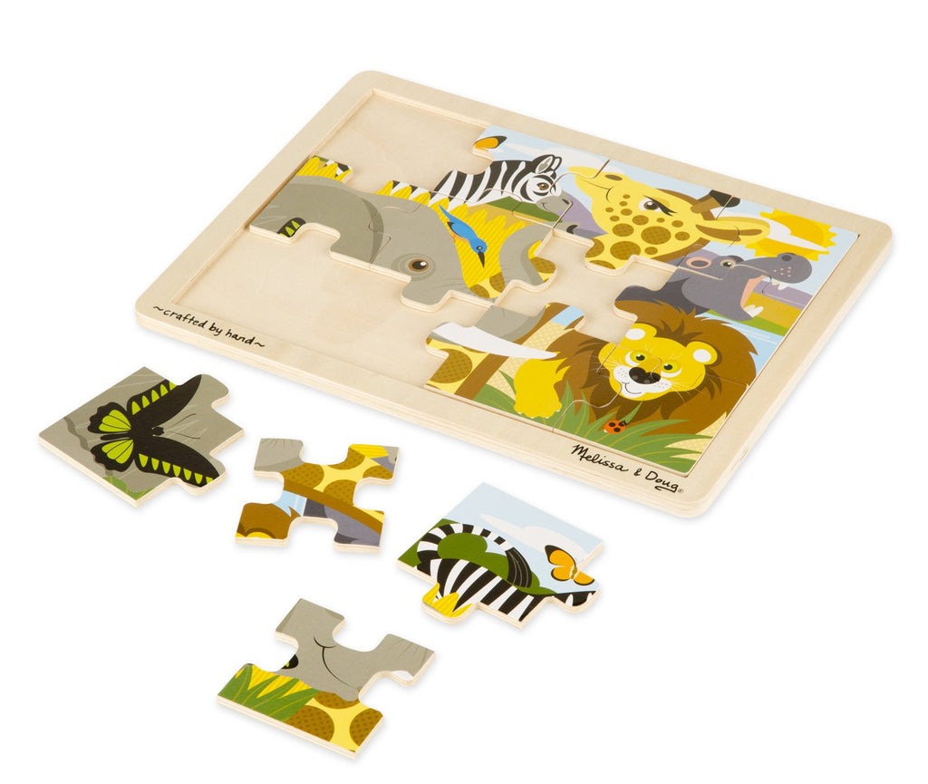 Melissa Doug Safari Jigsaw (12pc)