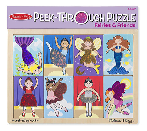 Image of Melissa Doug Peek-Through Puzzle - Fairies and Friends 9077