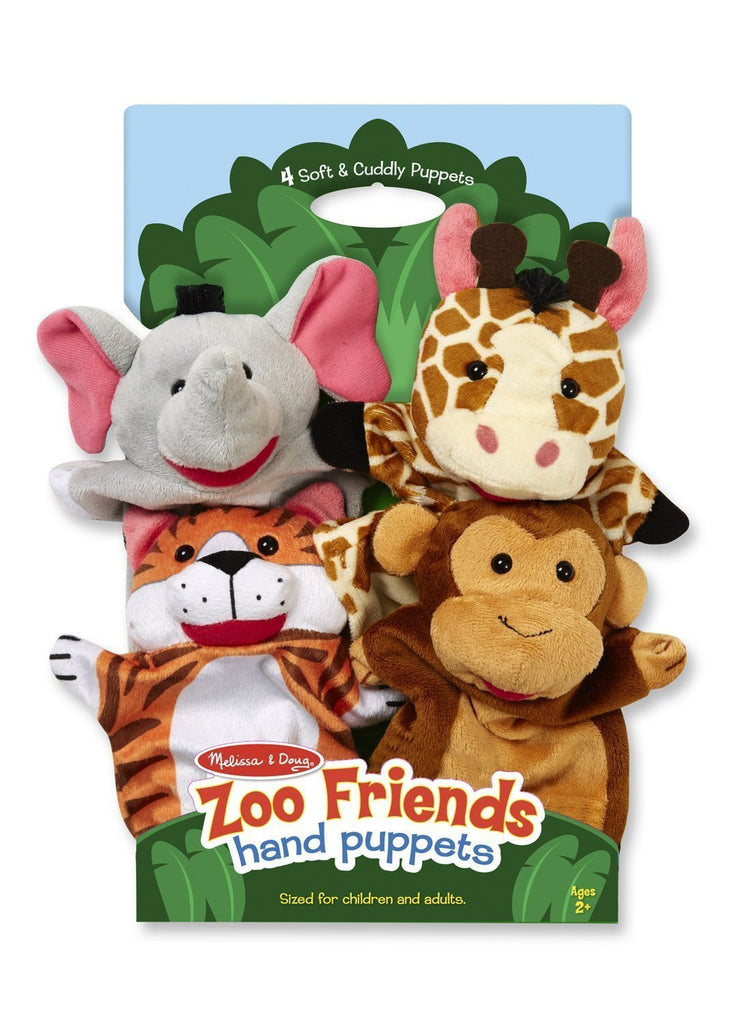 Melissa Doug Zoo Friends Hand Puppets 9081