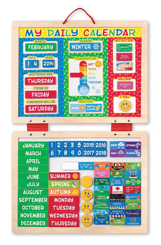 Melissa Doug My First Daily Magnetic Calendar 9253