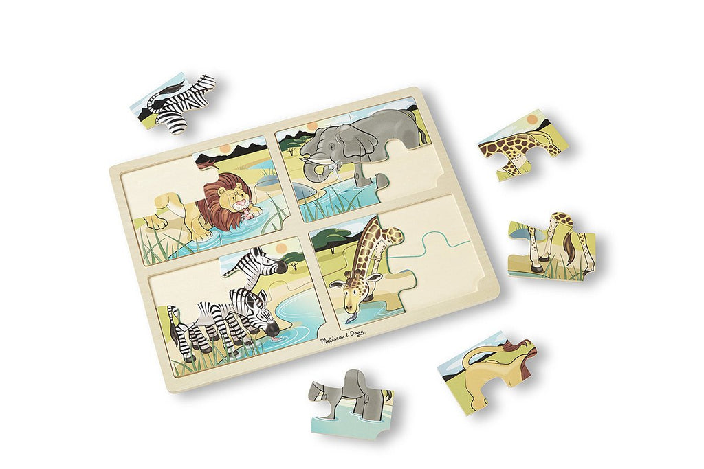 Melissa Doug 4-in-1 Safari Jigsaw Puzzle 9366