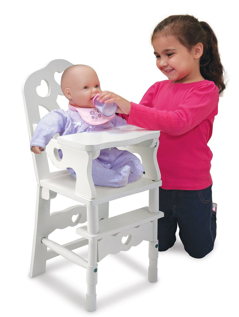 Melissa Doug Wooden Doll High Chair 9382