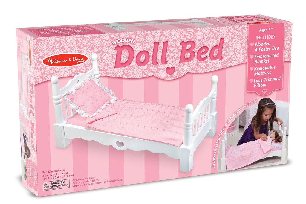 Melissa Doug Wooden Doll Bed 9383