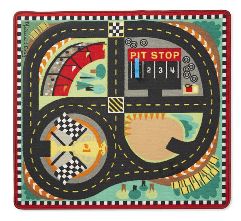 Image of Melissa Doug Round The Race Track Rug 9401