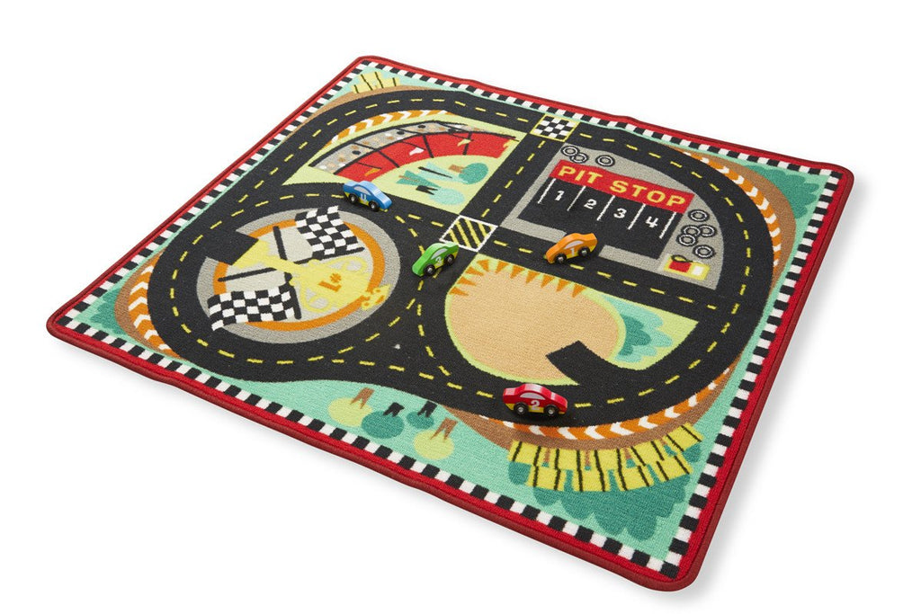 Melissa Doug Round The Race Track Rug 9401