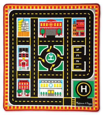 Image of Melissa Doug Round The City Rescue Rug 9406