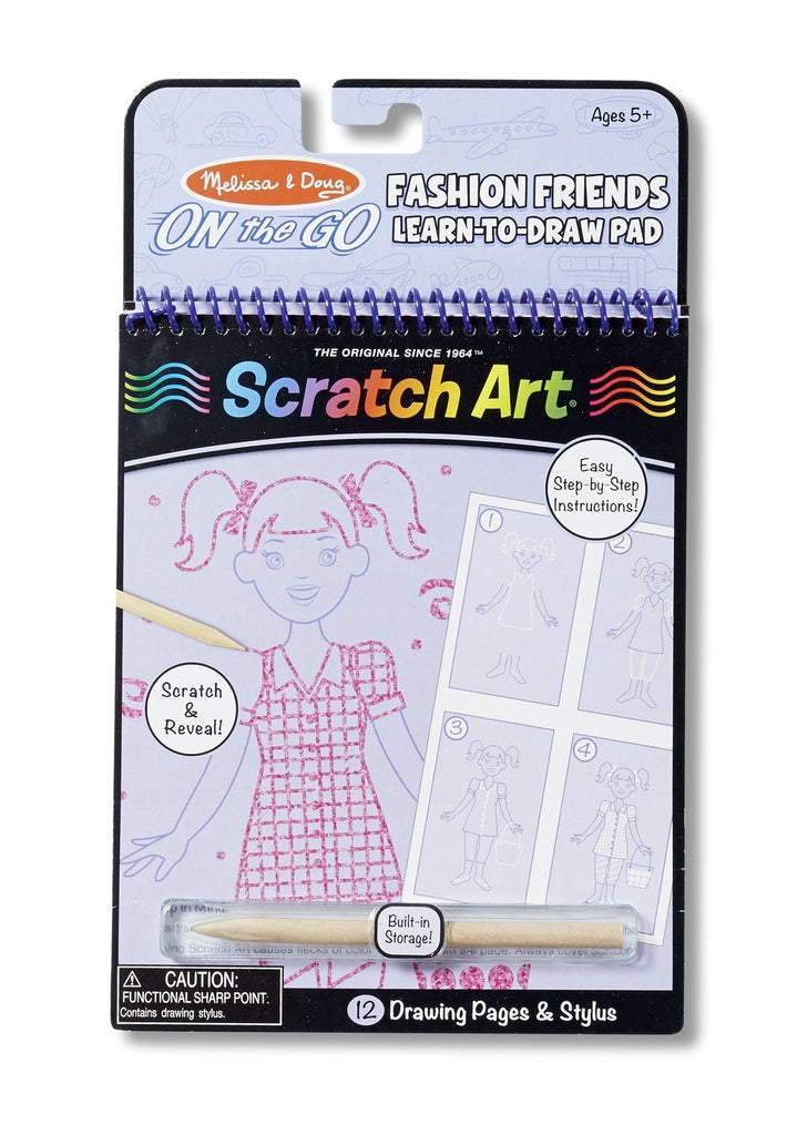 Melissa Doug Fashion Friends Learn-to Draw Pad 9417