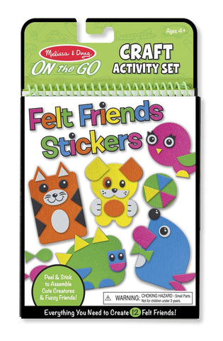 Image of Melissa Doug On-the-Go Crafts - Felt Friends 9420